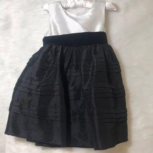 Black and white toddler dress